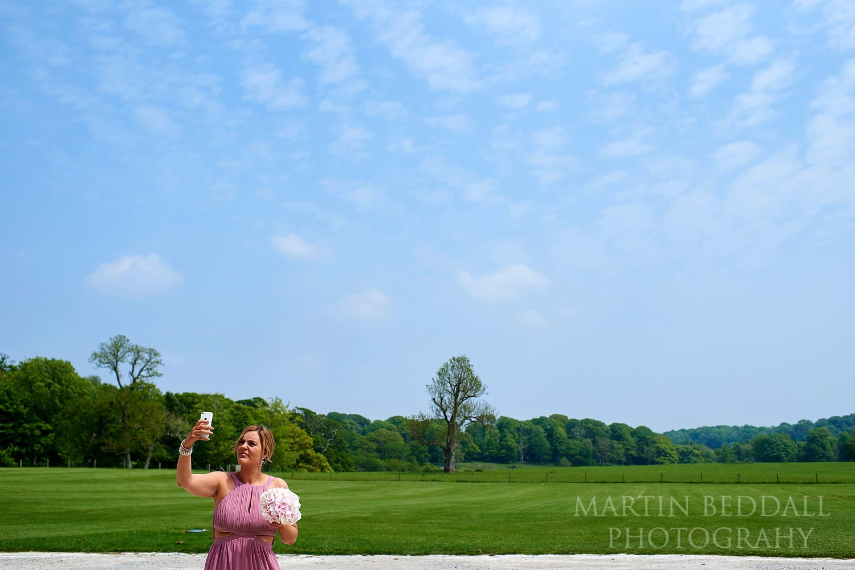 Bridesmaids snaps Lulworth Castle