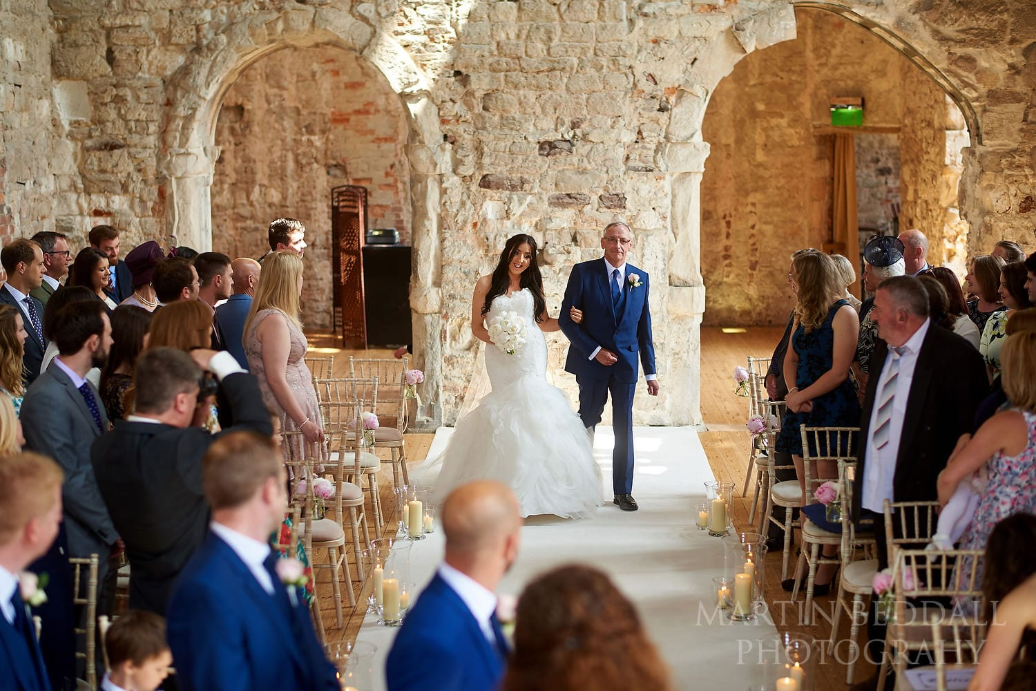 Start of the ceremony at Lulworth Castle wedding