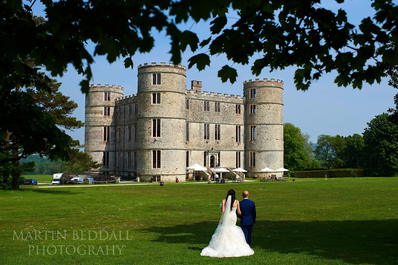 Bride and groom at Lulworth Castle wedding