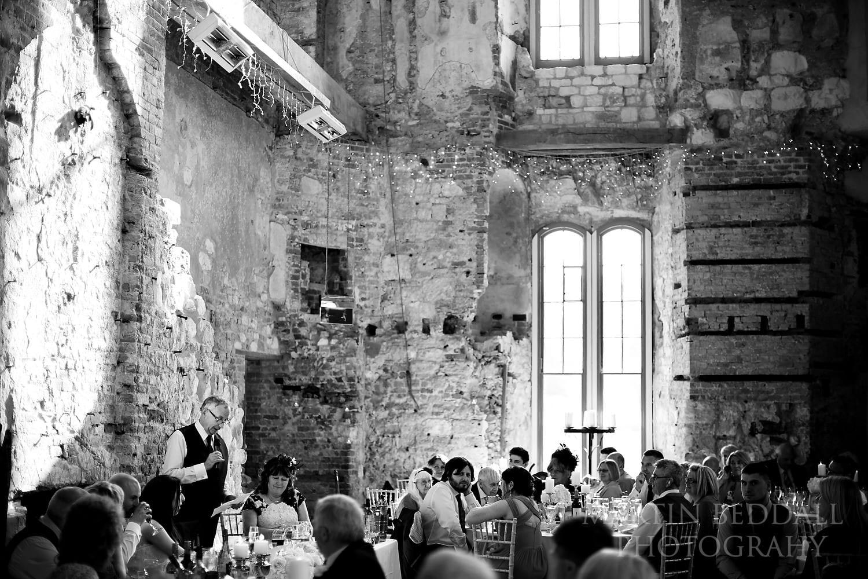Speeches at Lulworth Castle wedding