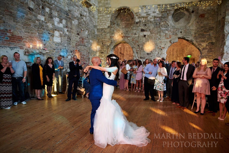 First dance at Lulworth Castle wedding