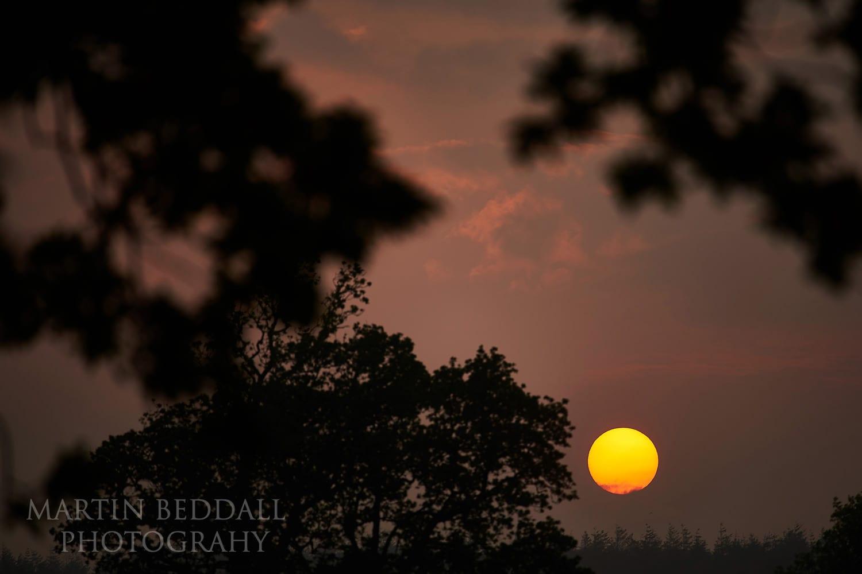 Sunset at Lulworth Castle wedding