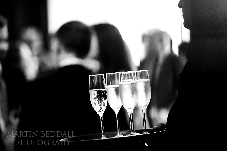 Champagne at RIBA wedding