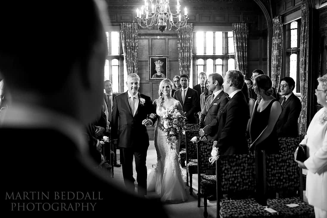 Hever Castle wedding ceremony