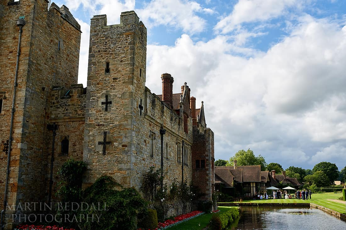 Hever castle wedding reception