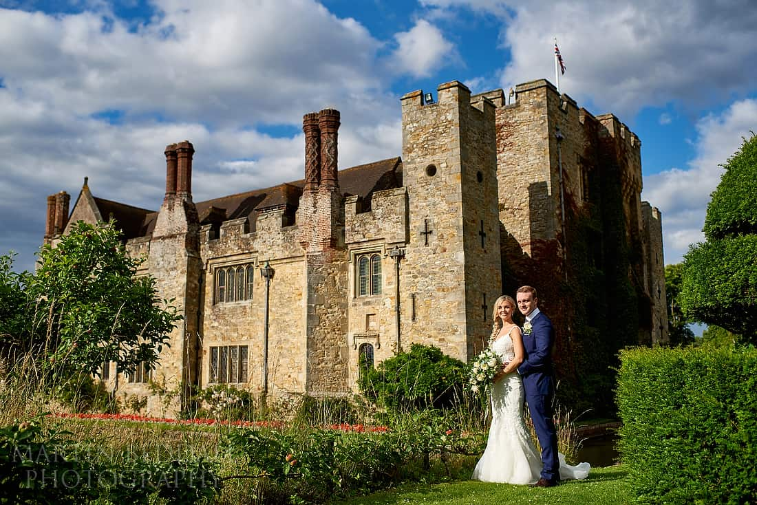 Hever Castle wedding photography