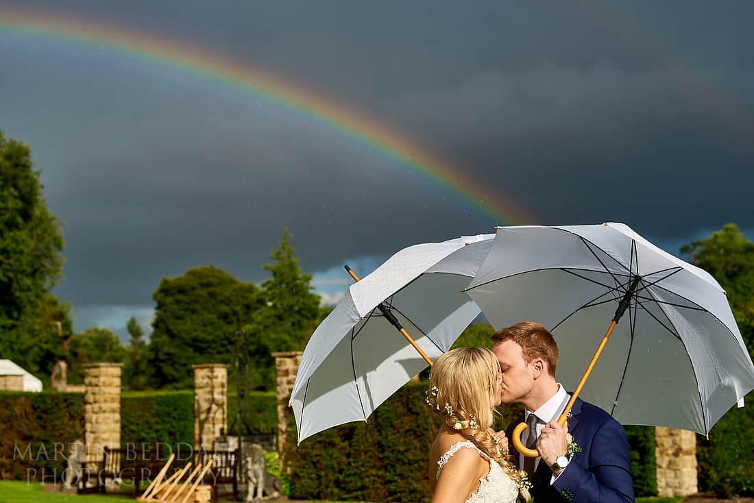 Kiss under a rainbow