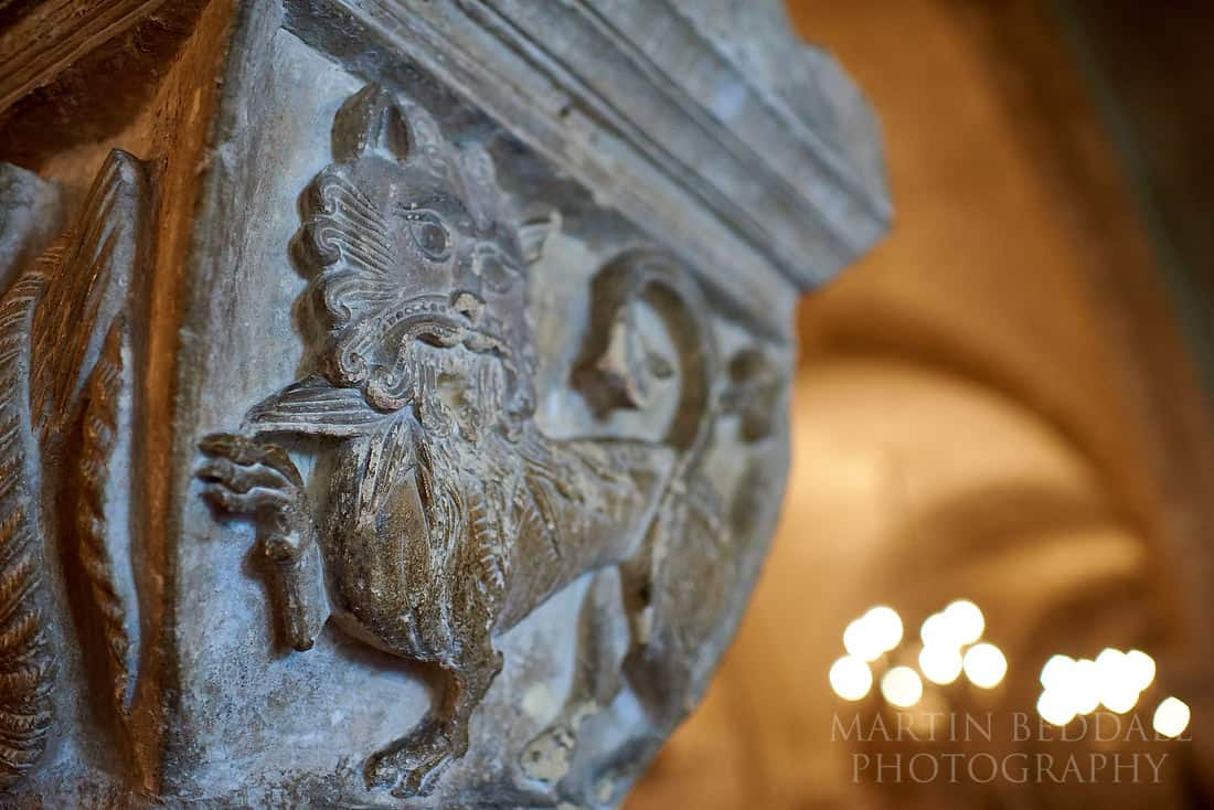 Detail in Canterbury cathedral crypt