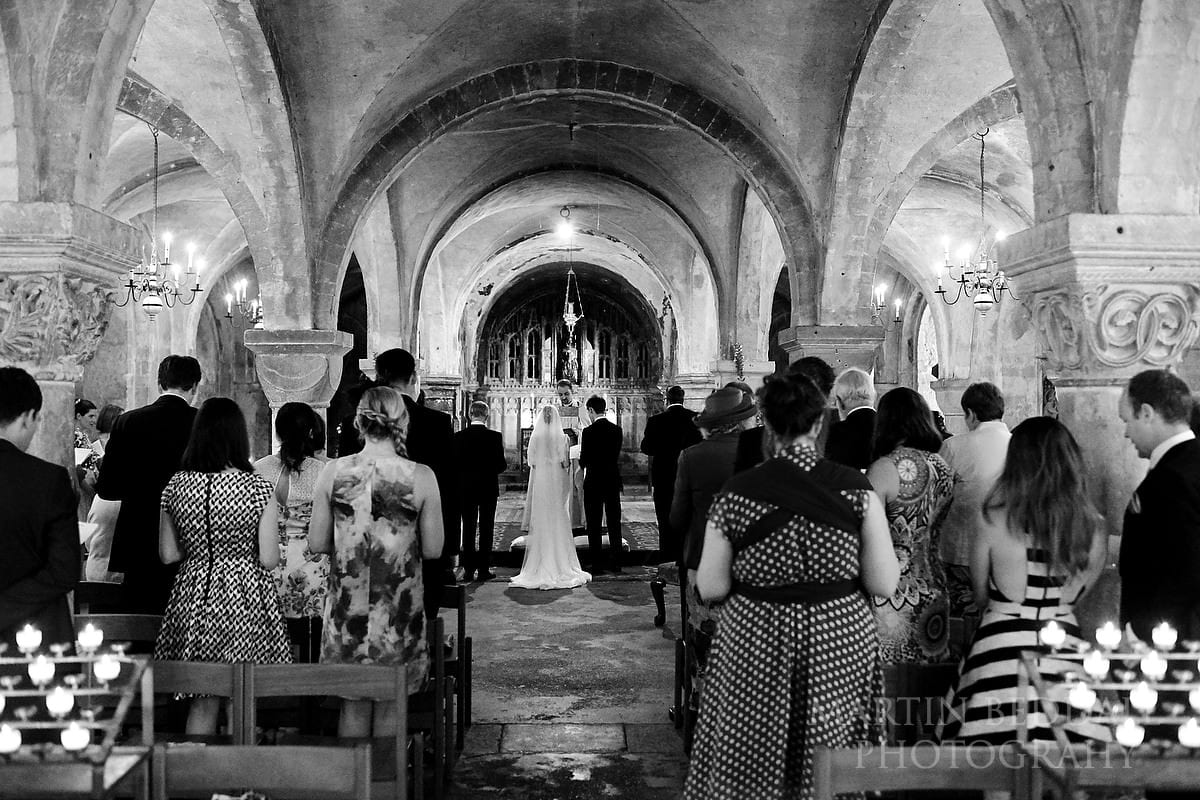 Canterbury Cathedral wedding ceremony in the crypt