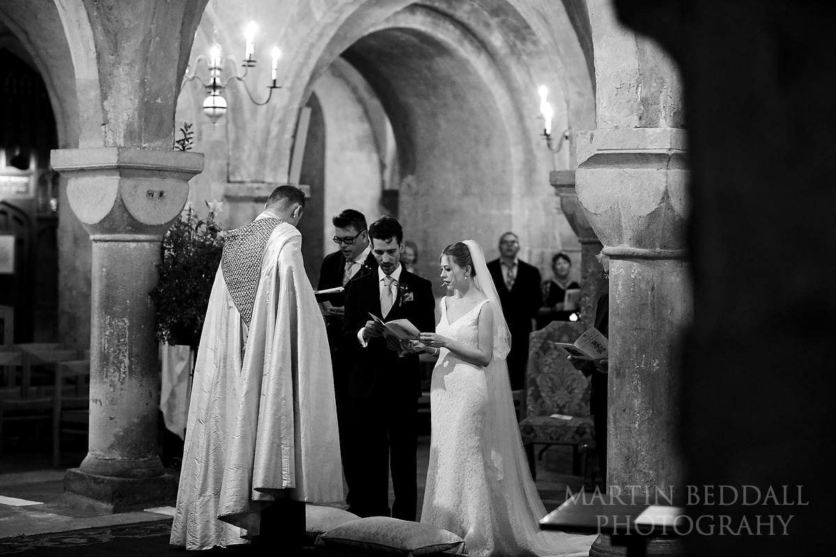 Singing hymns at Canterbury Cathedral wedding