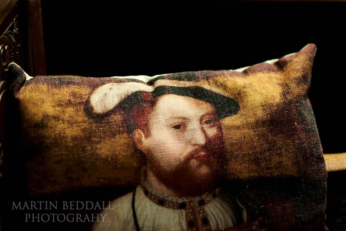 Henry VIII cushion at Hever Castle