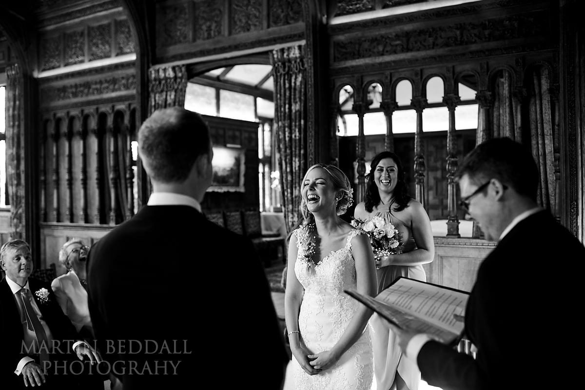 Laughter at Hever Castle wedding