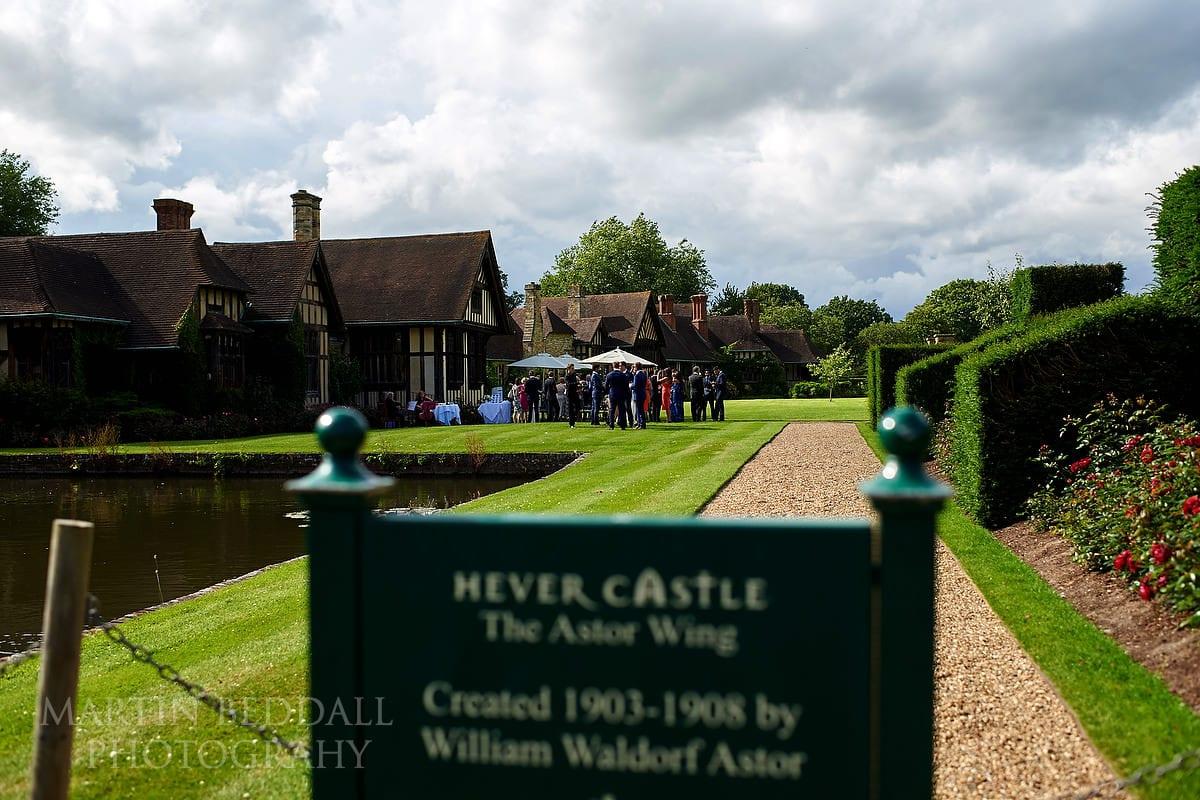 Hever Castle wedding reception