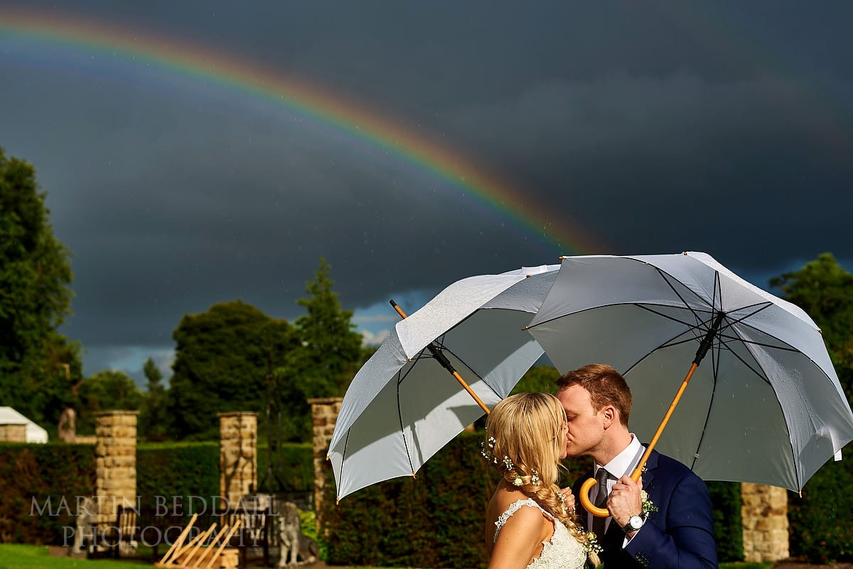 Rainbow at Hever Castle wedding