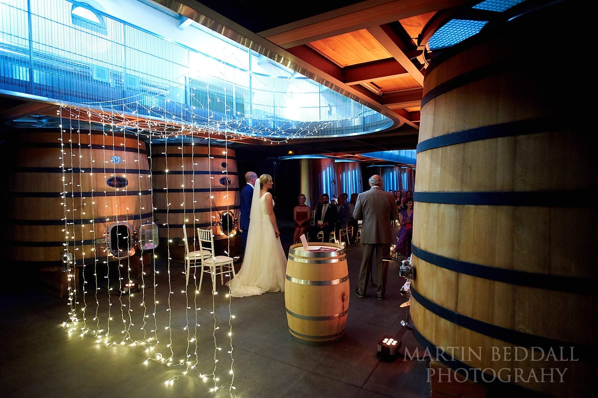 Wedding at Château Soutard amidst the wine vats