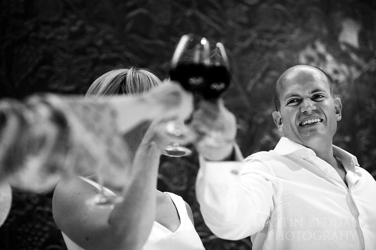 Wedding toast at Château Soutard