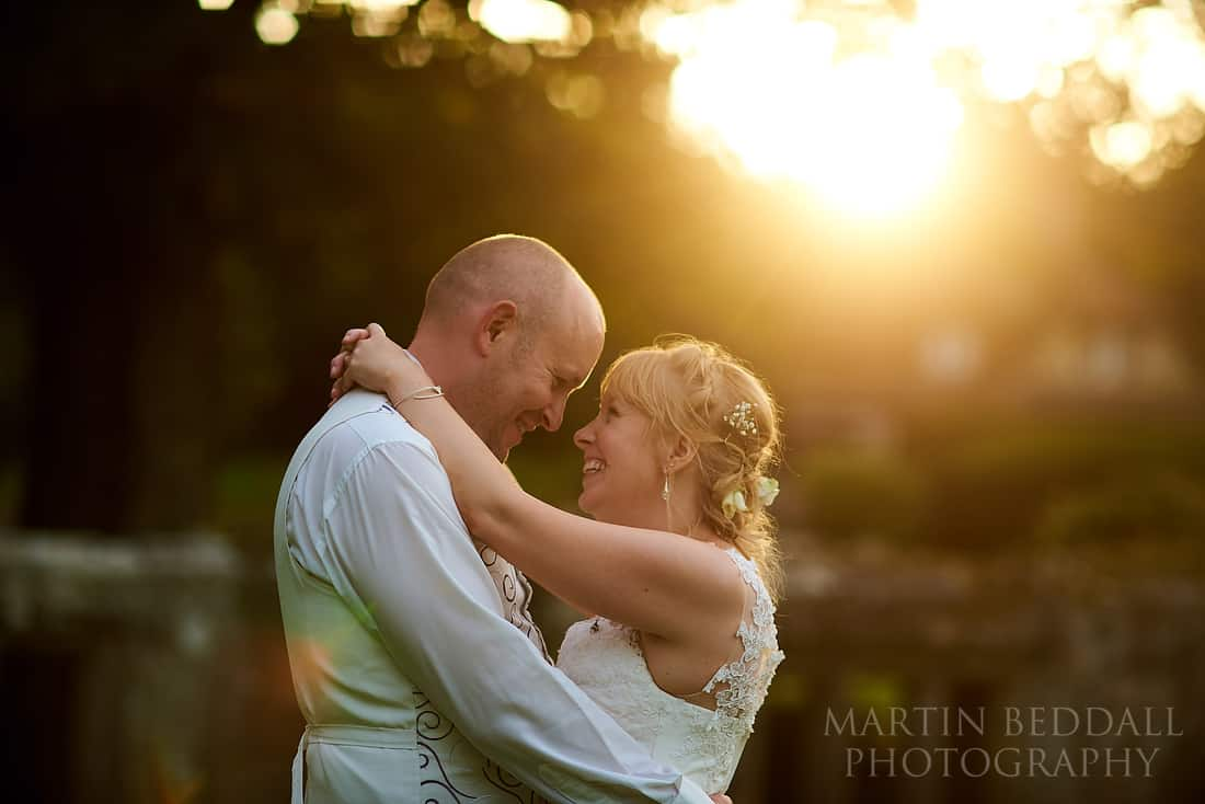Slaugham Place wedding sunset
