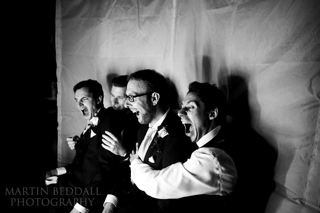 Grrom and his best men in the photo booth