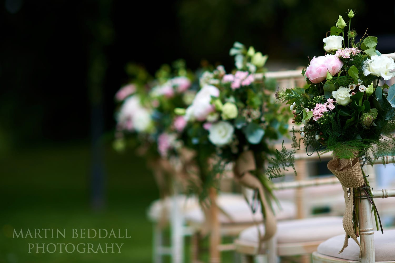 Flowers on the chairs
