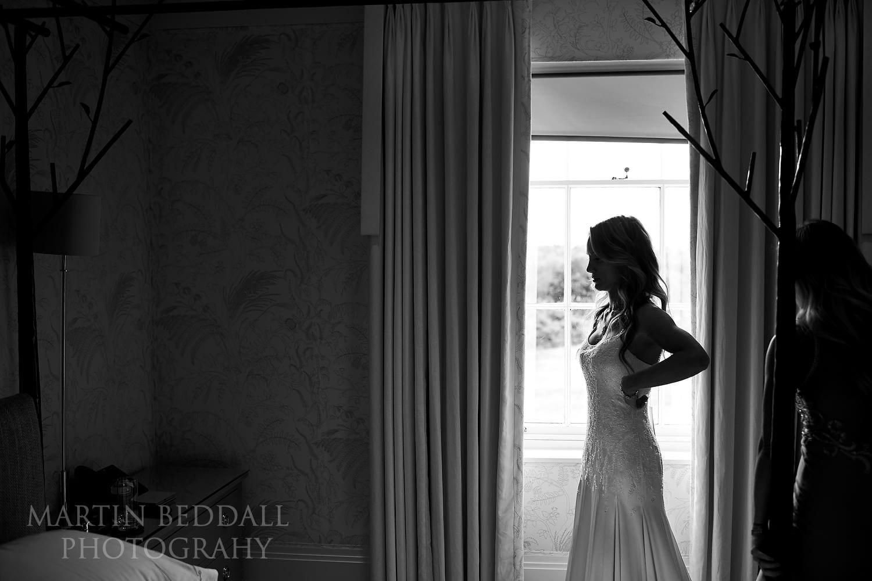 Bridal prep at Coworth Park