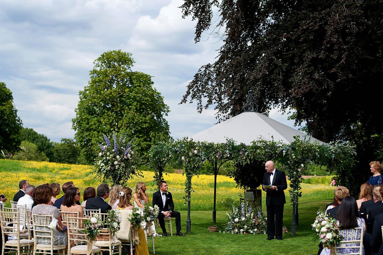 Reading at Coworth Park wedding