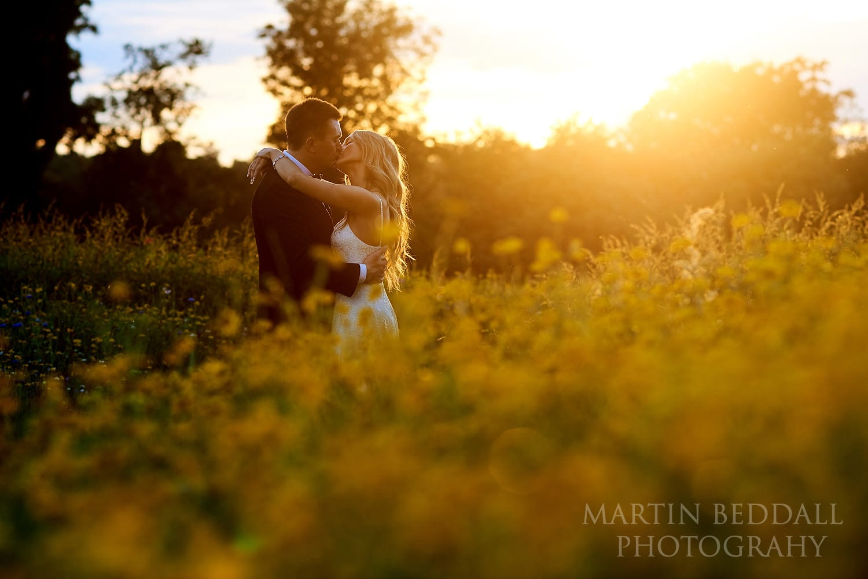 Sunset portrait at Coworth Park wedding