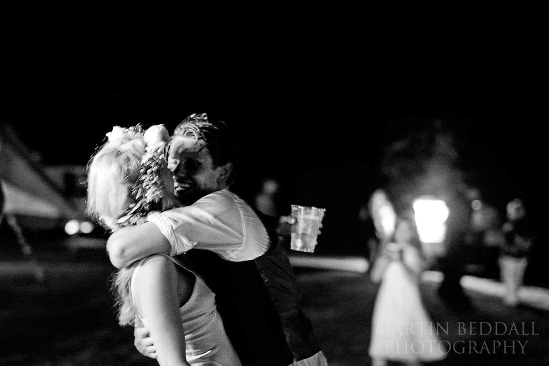 Late night hug in the dark