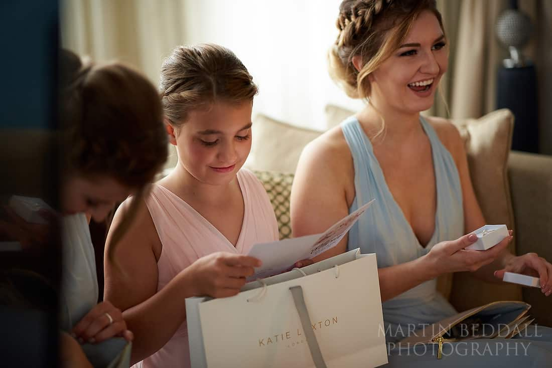 Bridesmaids get their presents