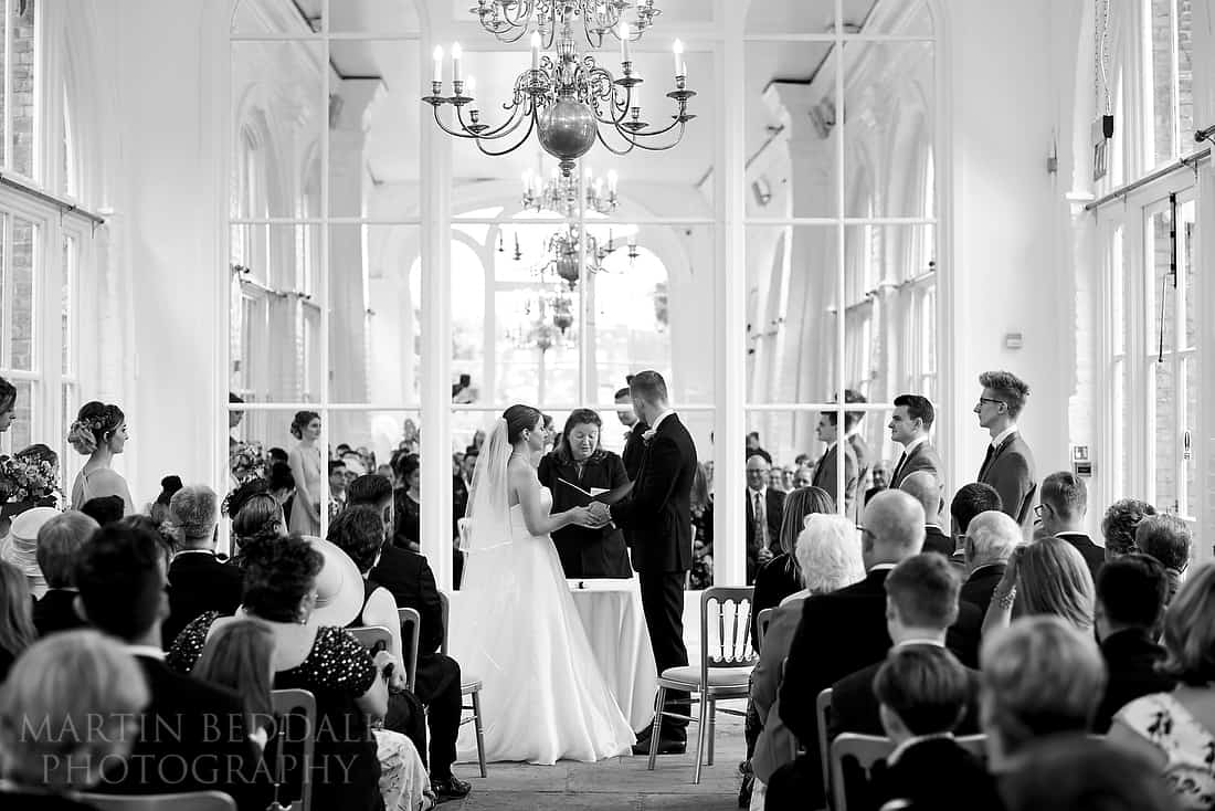 wedding ceremony at The Orangery in Holland Park