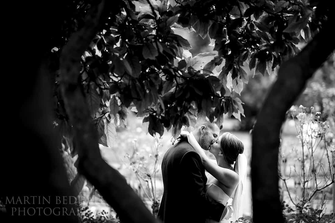 bride and groom portrait at The Orangery
