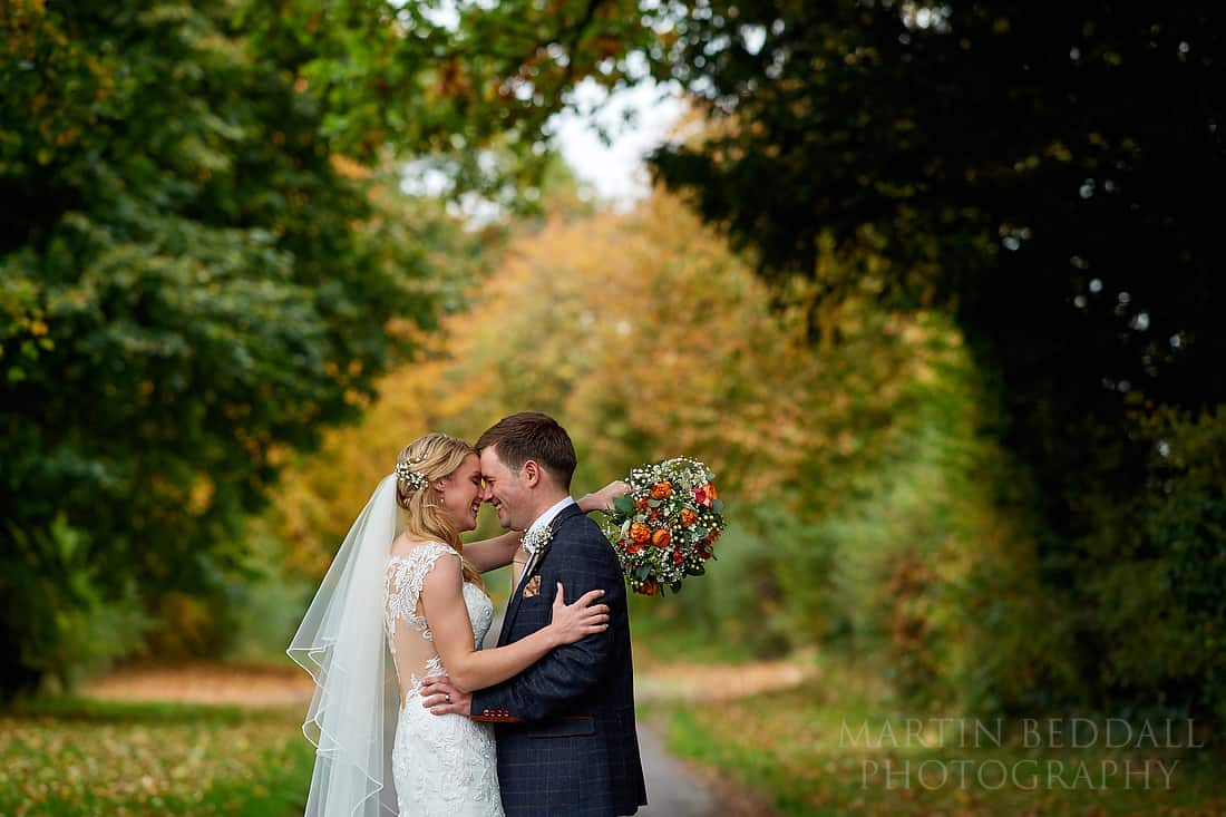 Wedding portrait at Clock Barn