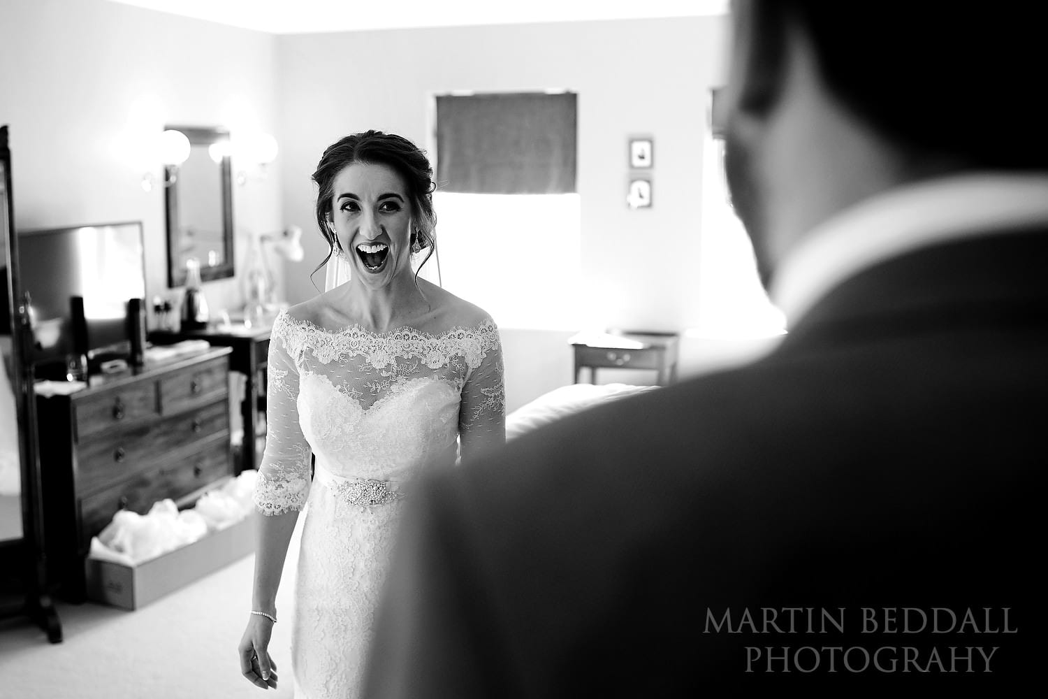 First Look at Burley Manor wedding