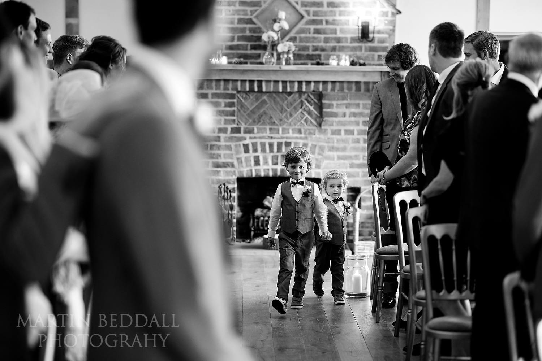 Boys start the wedding ceremony