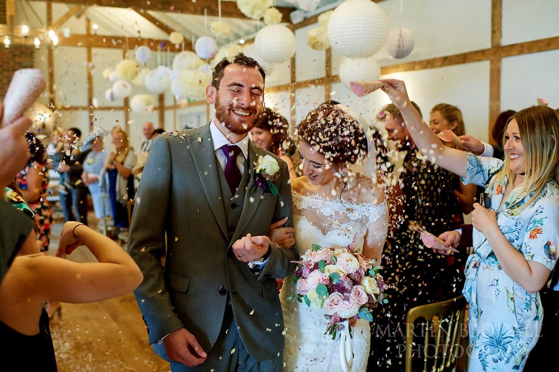 Confetti at Burley Manor wedding