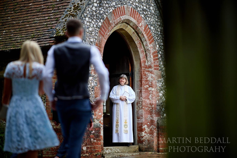 Vicar at Highclere church