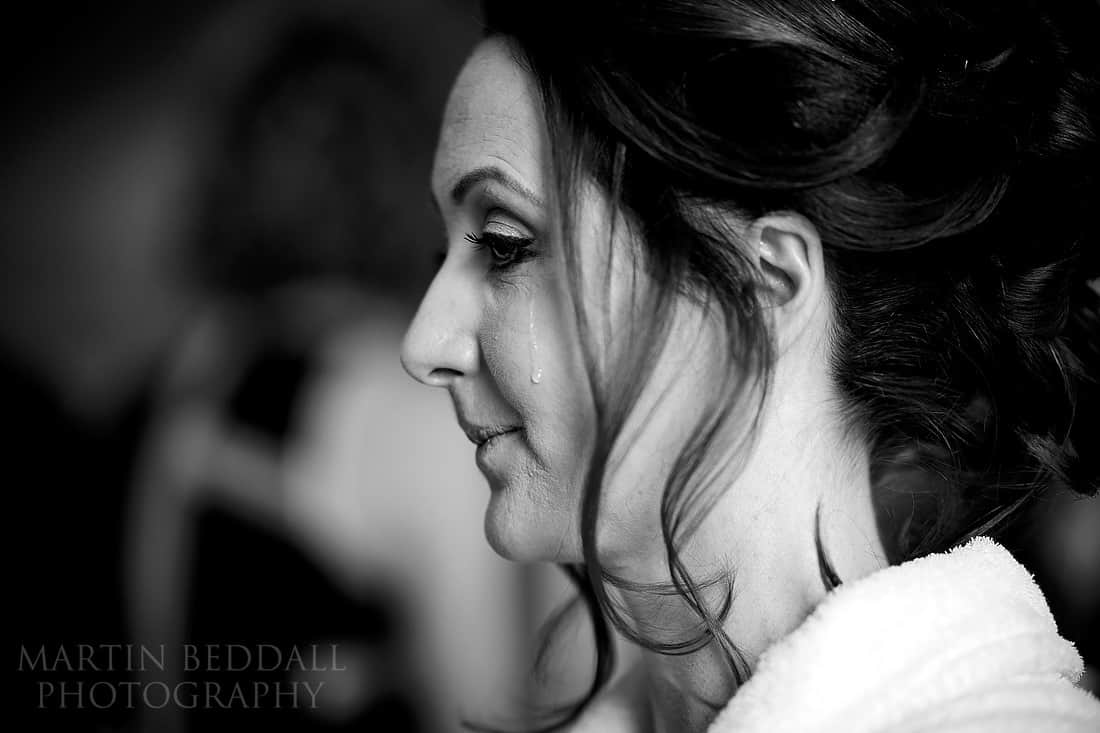 Tearful bride