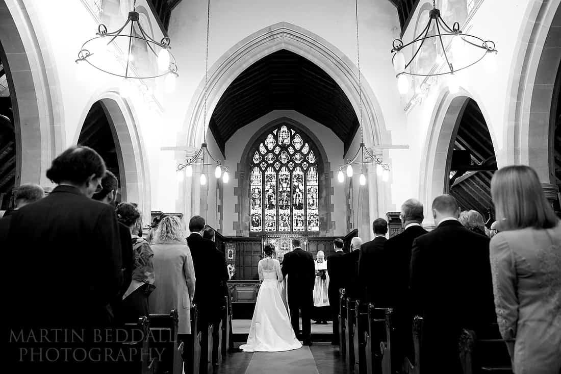 wedding at St Leonard's church in Turners Hill