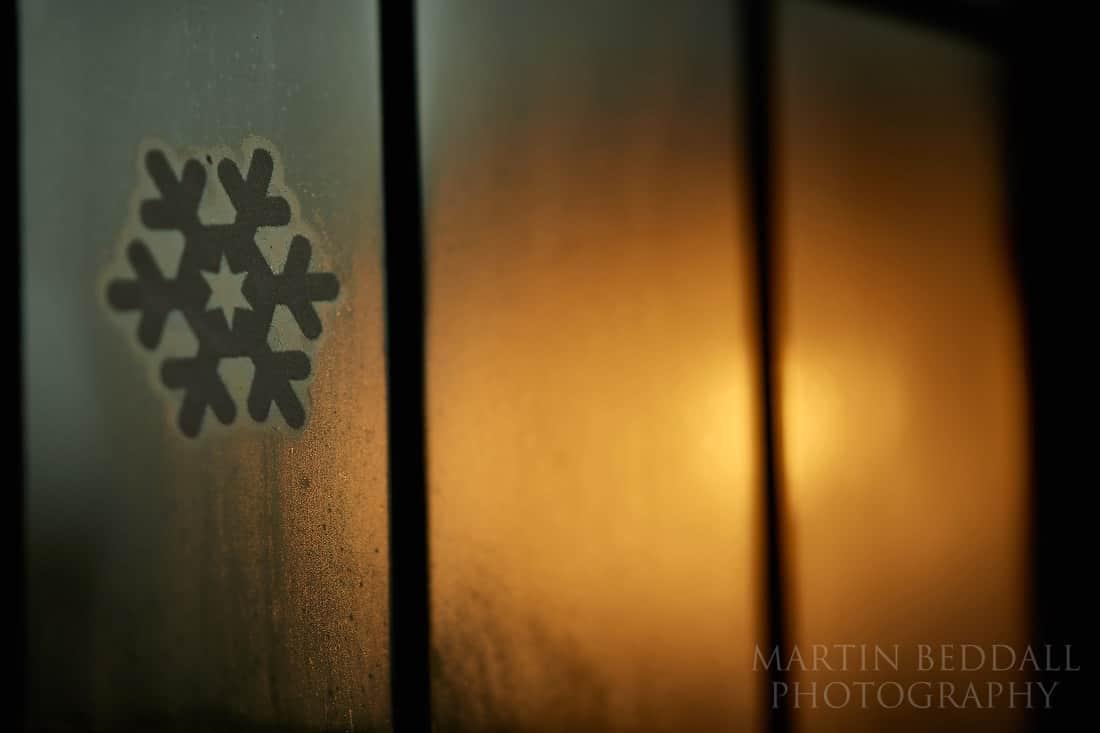 Dark winter wedding