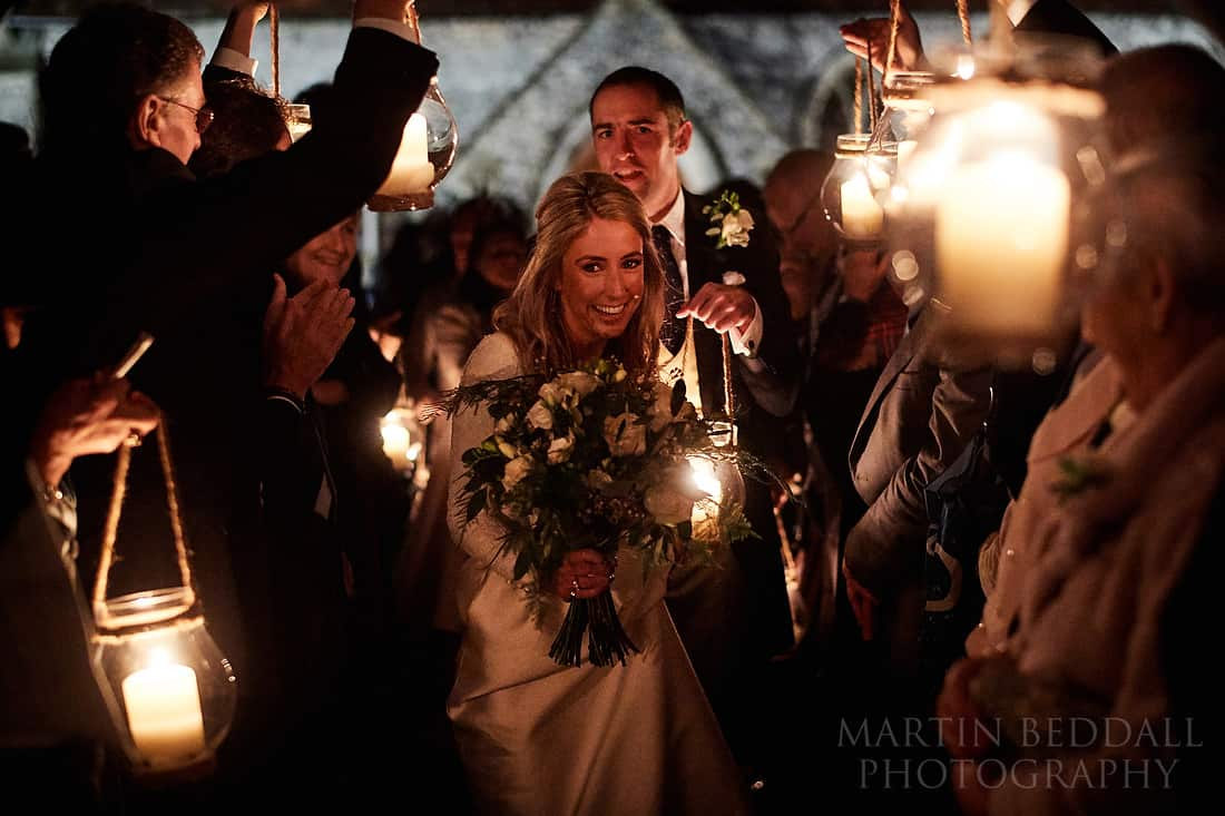 dark winter wedding