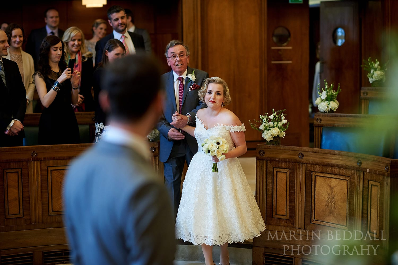 Town Hall Hotel wedding ceremony