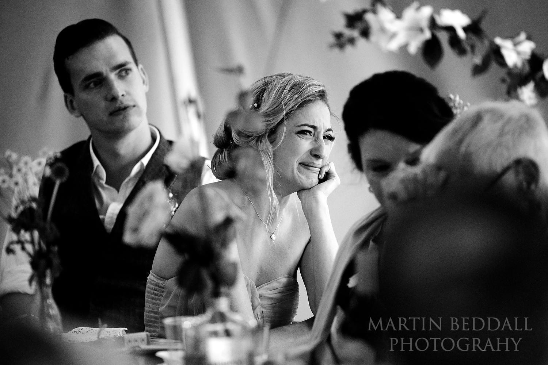 Tearful bridesmaid