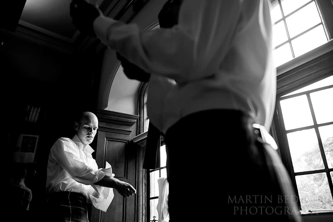 Groom gets ready with his best man