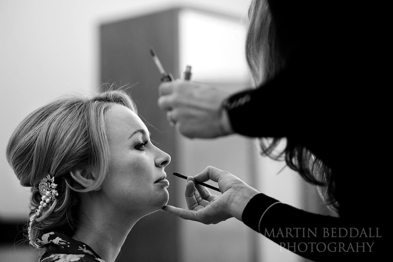 Bridal makeup at Town Hall Hotel
