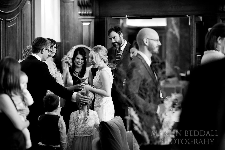Town Hall Hotel wedding reception