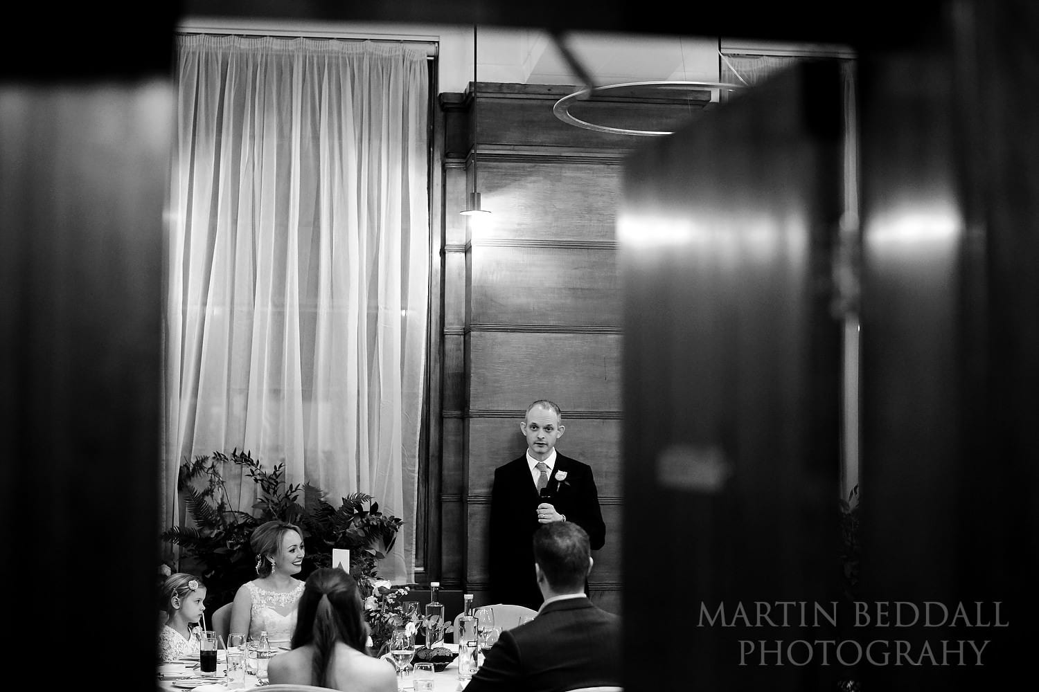 Groom's speech at the Town Hall Hotel