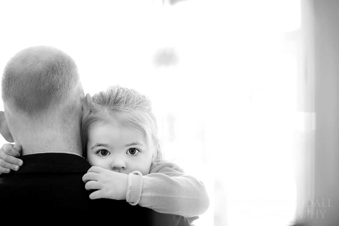 flower girl and her dad