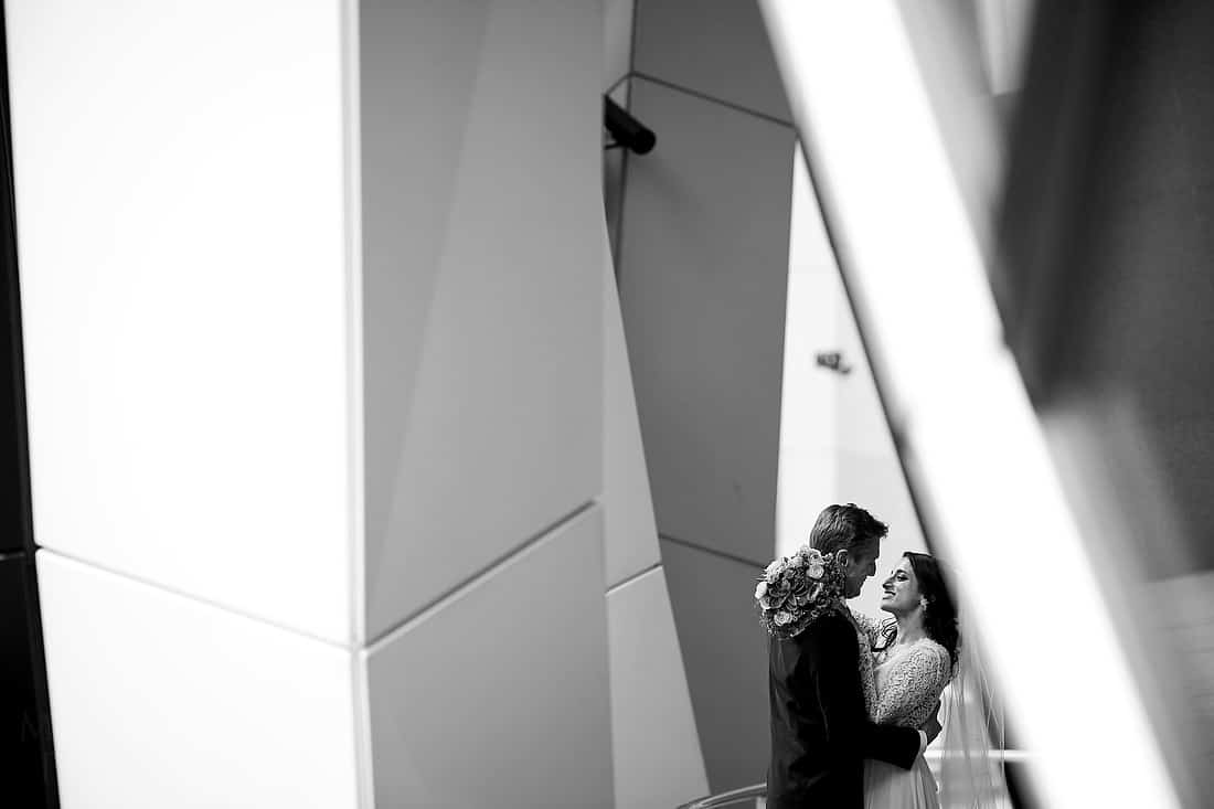 Bride and groom at The Gherkin