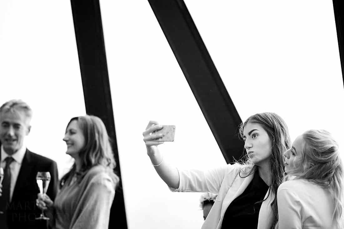selfie at the gherkin