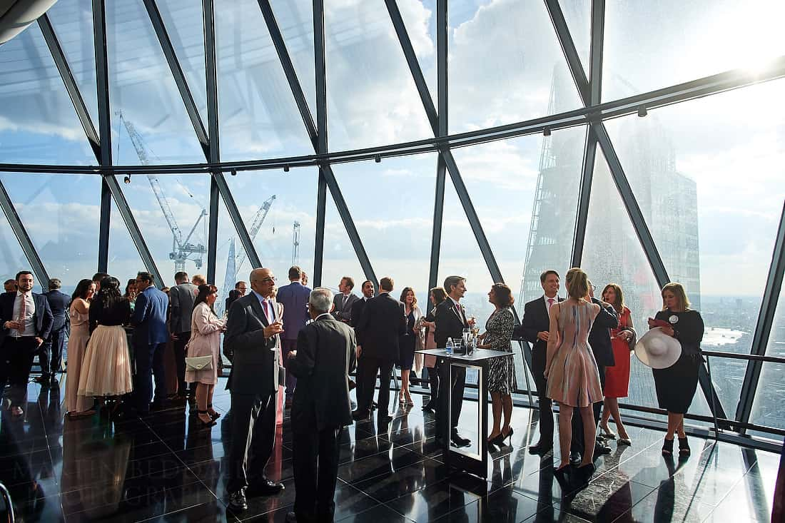 Gherkin wedding reception