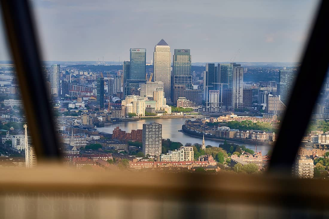 View of Canary Wharf from the Gherkin